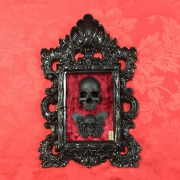 Skull frame with butterfly